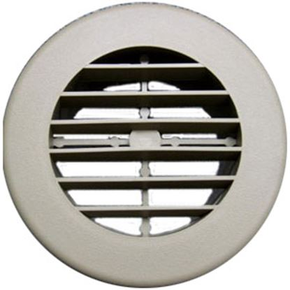"Picture of D&W INC.  Black 4"" Round 360 Deg Rotation Heating/ Cooling Register w/o Damper 3940BK 69-1282"
