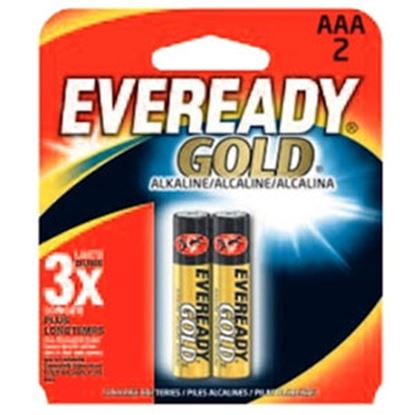 Picture of Eveready Gold (TM) 1.5V Zn-MnO2 AAA Alkaline Battery A92BP-2 69-5094