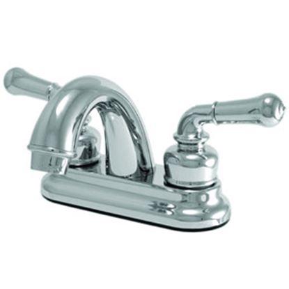 """Picture of Relaqua  Chrome w/Teapot Handles 4"""" Lavatory Faucet w/Arc Spout AL-B210C 69-7081"""