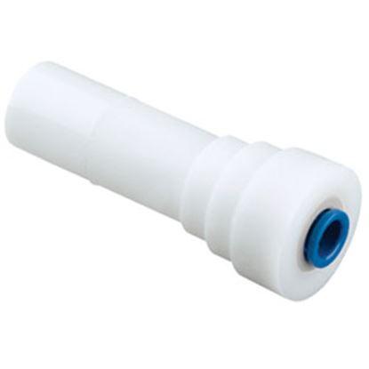 "Picture of Sea Tech 24 Series 1/2"" Male CTS x 3/8"" Female QC Copper Tube White Plastic Fresh Water Straigh 012414-1008 69-7148"