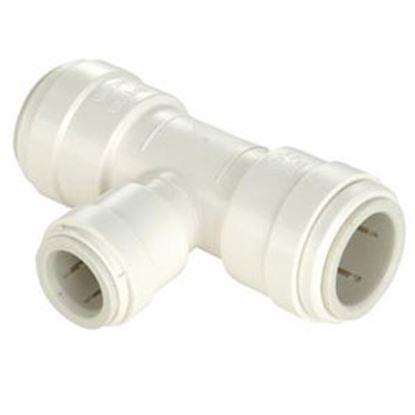 "Picture of Sea Tech 35 Series 1/2"" Fem QC Copper Tube Run x 1/4"" Fem QC OD Tube Branch Off-White Polysulfo 3524R-1004 69-7167"