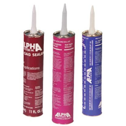 Picture of Alpha Systems  White 11 Oz Tube Non-Sag Paste Roof Sealant N101001TK 69-8347