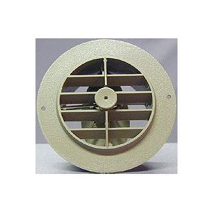 "Picture of D&W INC.  Black 4"" Round 360 Deg Rotation Heating/ Cooling Register w/ Damper 3840RBK 69-8745"