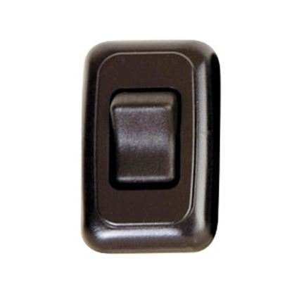 Picture of Diamond Group  Black 125V/ 16A SPST Single Rocker Switch For On/ Off Appliances DG3115VP 69-8815