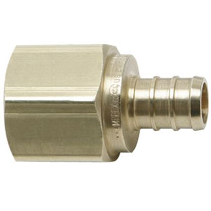 "Picture of BestPEX  1/2"" Hose Barb x 3/4"" FPT Brass Fresh Water Straight Fitting 41129 69-9004"