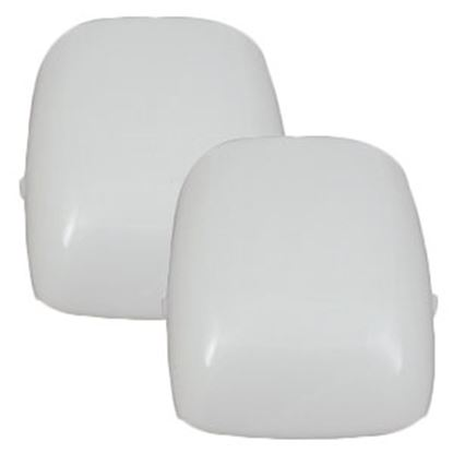 Picture of Gustafson  White Rectangular Euro-Style Replacement Dome Light Lens GSAM4024 69-9098