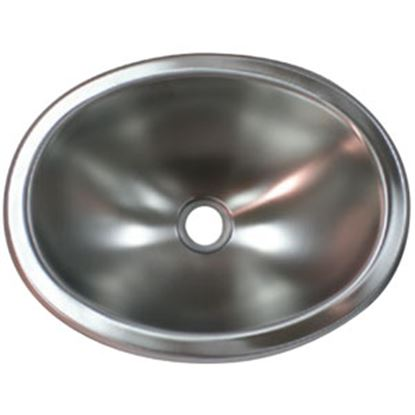 "Picture of Lasalle Bristol  13-3/4""L X 10-1/2""W X 5""D Oval Satin Stainless Steel Sink 13M1186 69-9225"