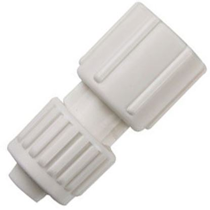 "Picture of Flair-It  1/2"" PEX x 1/2"" FBSP Swivel End Nut White Plastic Fresh Water Straight Fitti 16873 72-0803"