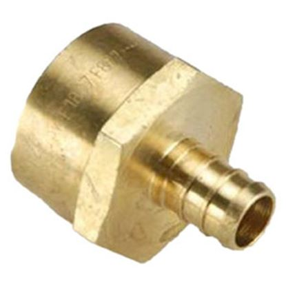 "Picture of BestPEX  1/2"" Hose Barb x 3/4"" FPT Brass Fresh Water Straight Fitting 51129 72-0821"