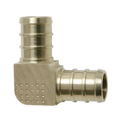 "Picture of BestPEX  3/8"" PEX Brass Fresh Water 90 Deg Elbow 51138 72-0827"
