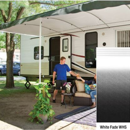 "Picture of Lippert Solera Destination White Fade 16'L X 9' 8""Ext Patio Awning w/White Solera Shield V000334839 90-2160"