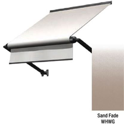 "Picture of Lippert Solara Sand Fade Vinyl 72""L X 18""Ext Manual Window Awning V000335106 90-2339"
