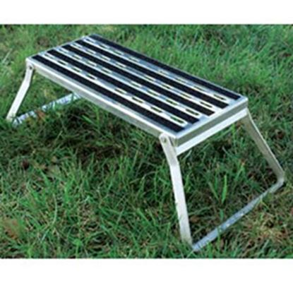 """Picture of Camco  7""""H Aluminum Folding Step Stool 43675 95-7956"""
